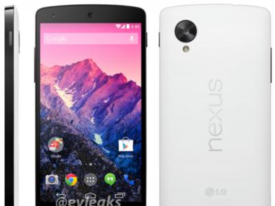 Filtrada la imagen oficial del Nexus 5 en blanco