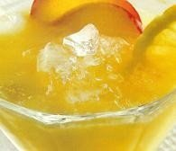 Granizado de limón con melocotón