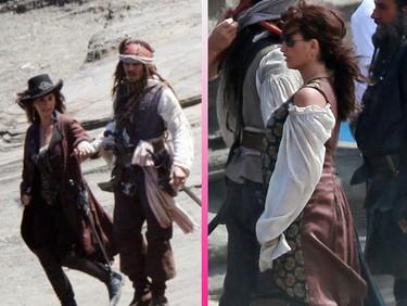 Penélope Cruz, con parche en el ojo, ya es una pirata