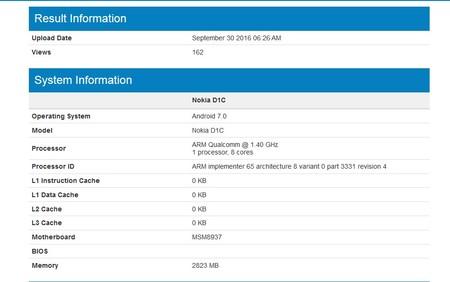 Nokia D1c Geekbench 1