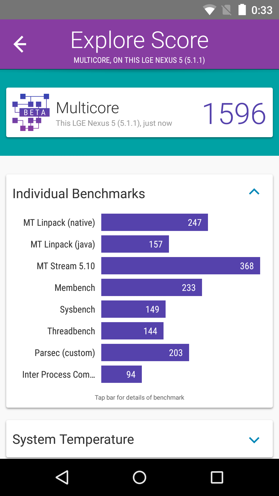 Foto de Benchmarks Nexus 5 Android 5.1.1 (17/43)