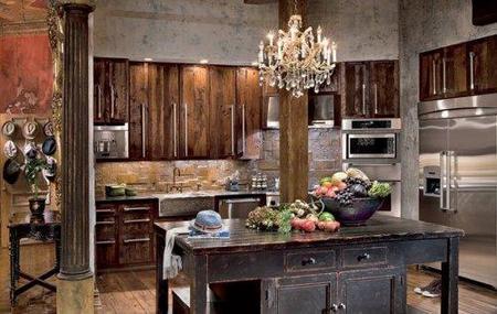 La cocina de Gerard Butler.