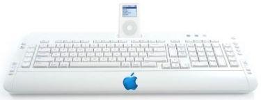 Apple prepara un teclado con dock para iPod