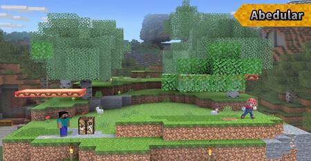 Super Smash Bros Ultimate Minecraft Escenario 02craft