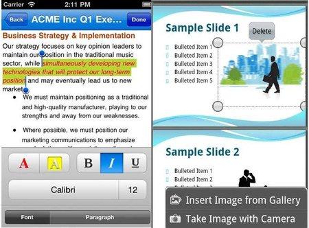 Nueva versión de QuickOffice Pro para móviles permite crear presentaciones