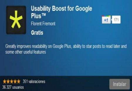 Google+ aún más cómodo con Usability Boost