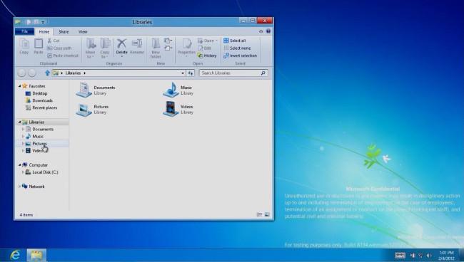 Windows Explorer en Windows RT