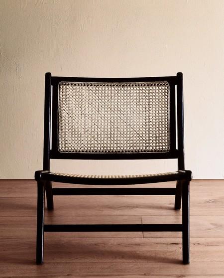 silla de teca y ratan zara home