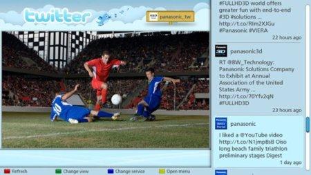 Panasonic integra Twitter en sus nuevos modelos de televisores