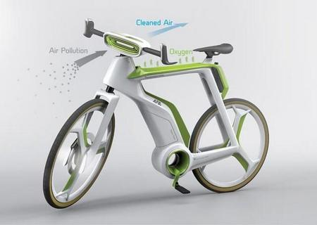 Bicicleta eléctrica purificadora del aire que respiramos