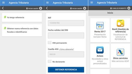 App Agencia Tributaria Referencia