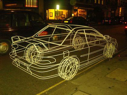Ilusiones ópticas, ¿un coche invisible?
