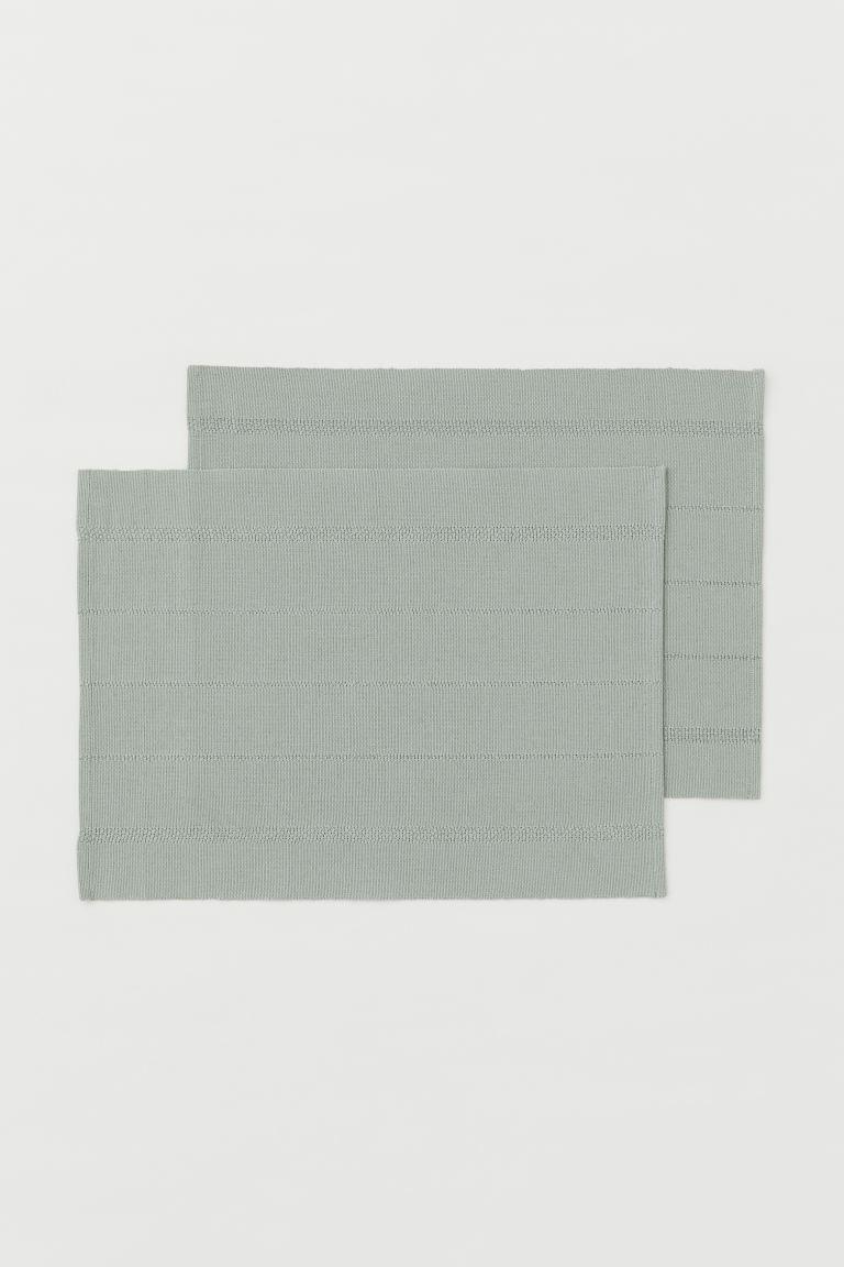 Manteles individuales en mezcla de lino y algodón con textura