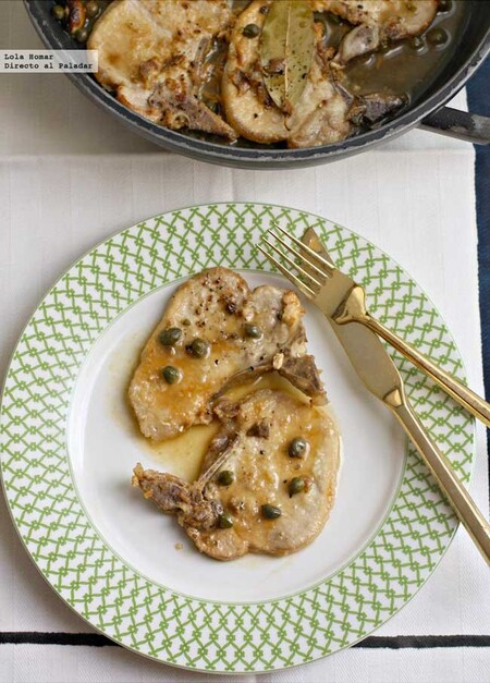 Chuletas de cerdo con alcaparras y anchoas, receta