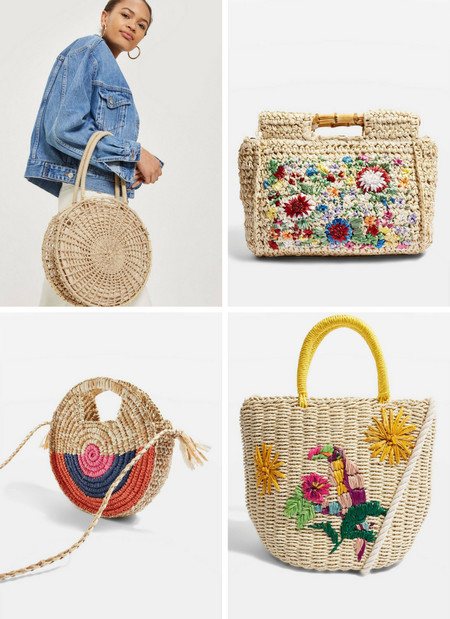 bolso cesta low-cost topshop
