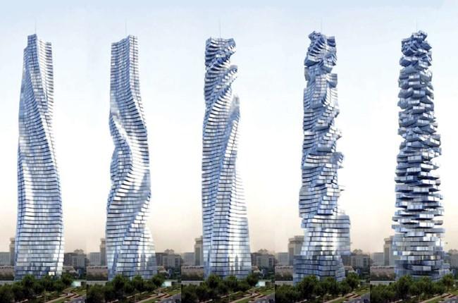 dubai rotating skyscraper