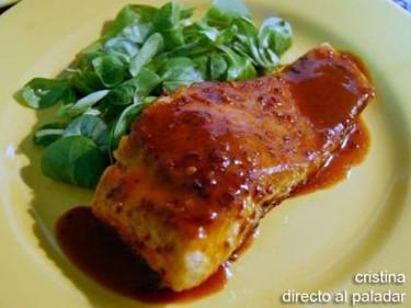 Receta de salmón al aroma de jengibre y curry
