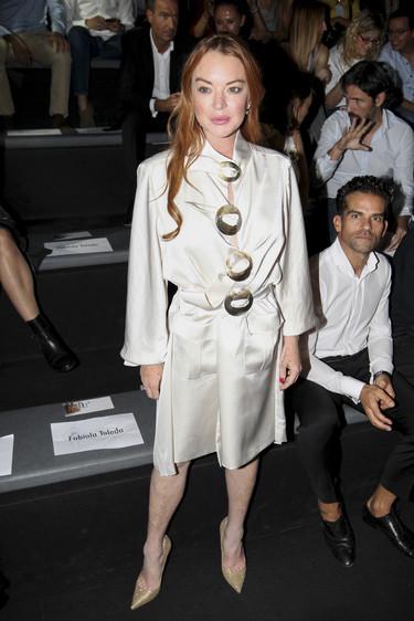 Lindsay Lohan y Marta Ortega ocupan la primera fila de la Madrid Fashion Week