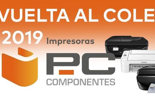 Las mejores ofertas en impresoras HP, Canon y Epson en la Vuelta al Cole de PcComponentes (2019)