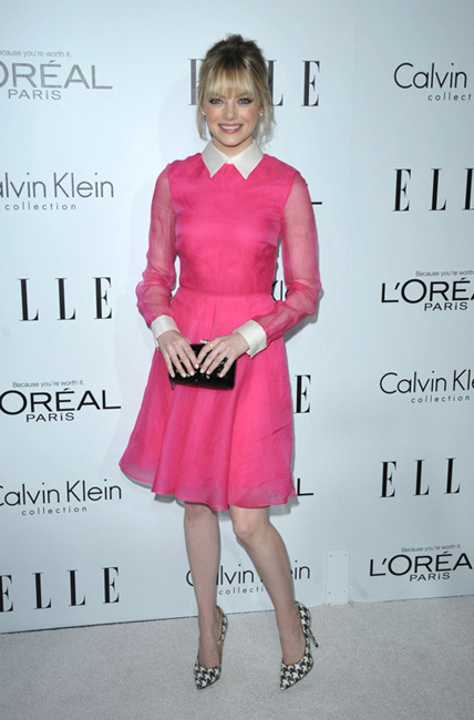fiesta Elle Women in Hollywood 2012 emma stone