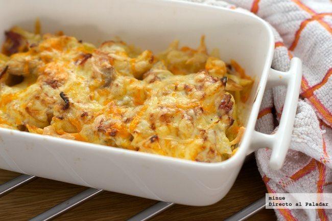 Patatas a la carbonara - presentación