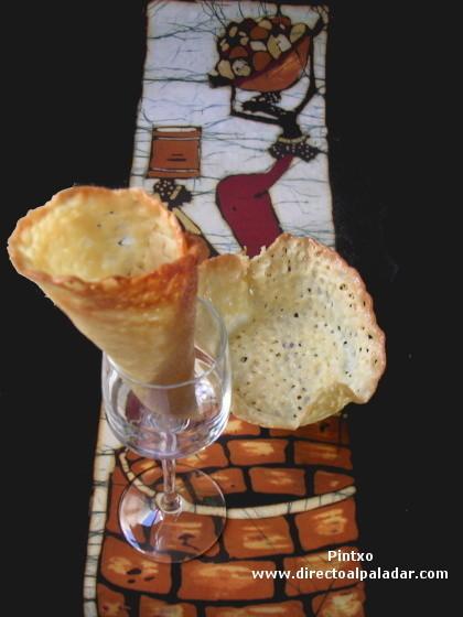 Cornetes, conos o cucuruchos de almendra y también como hacer tulipas. Receta