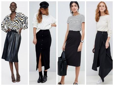Faldas Negras Tubo
