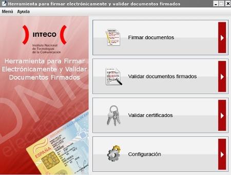 Utilidad de firma electrónica de Inteco
