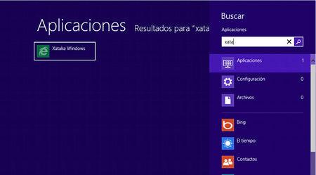 Búsquedas globales en Windows 8