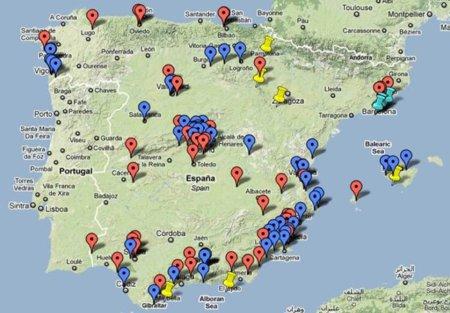 NoLesVotes crea un mapa con los casos de corrupción de los partidos políticos españoles