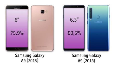 Samsung Galaxy A9 2018 y Samsung Galaxy A9 2016