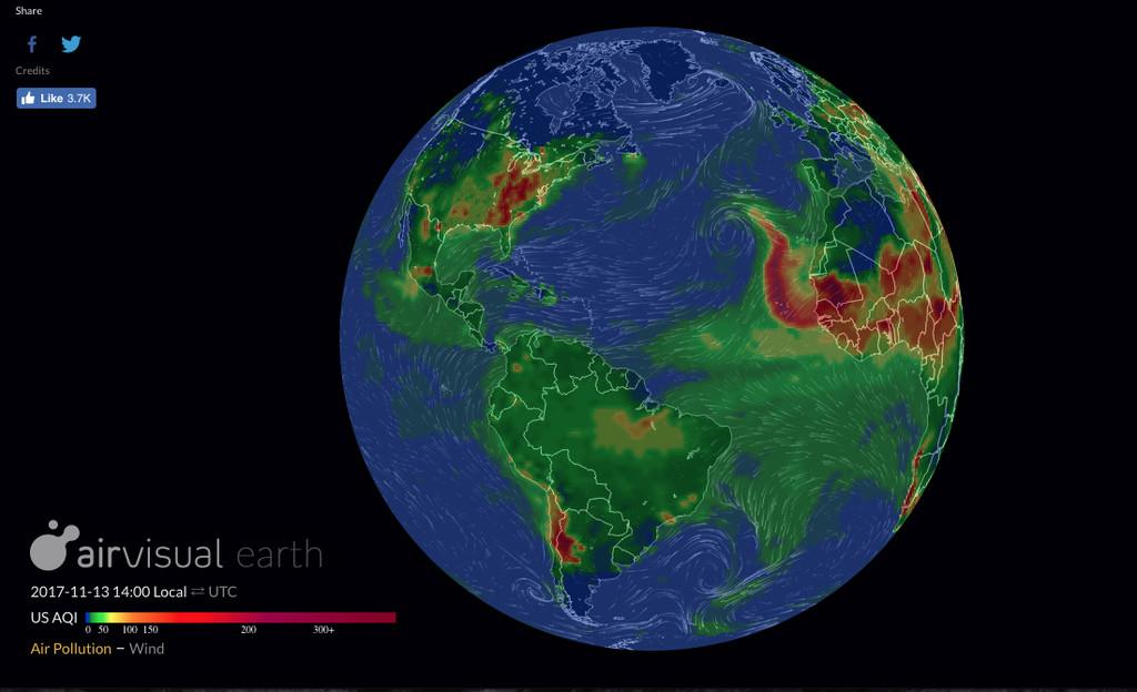 Mapa AirVisual