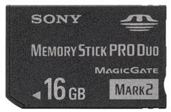 Memory Stick Pro Duo de 16 GB