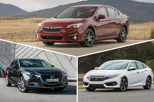 Honda Civic vs. Mazda 3 vs. Subaru Impreza: Analizamos a dos de los favoritos contra un incomprendido