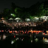 El espectáculo de las linternas por la paz de Hiroshima 70 años después de la bomba atómica