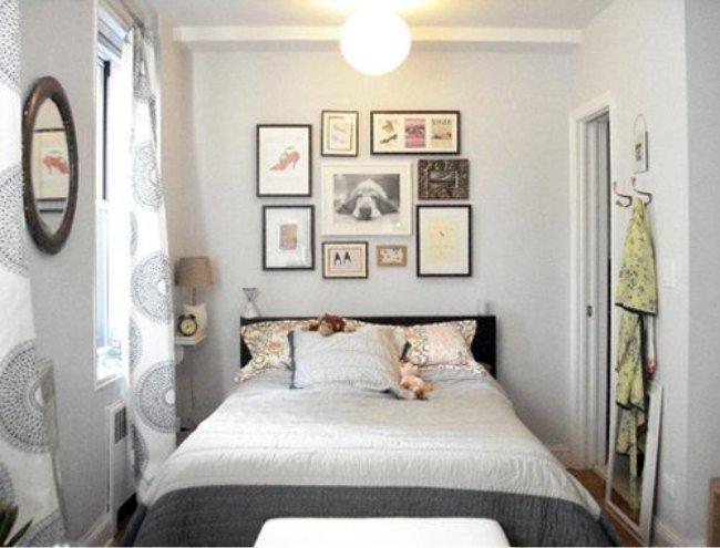 Un dormitorio pequeño.