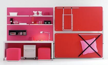 Un dormitorio juvenil en poco espacio for Literas originales para un cuarto juvenil