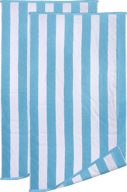 Utopia Towels - Juego de toallas blanco y verde 100% Algodón Hilado en Anillos