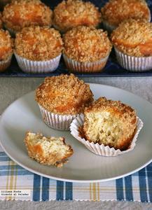 Muffins con streusel de canela. Receta