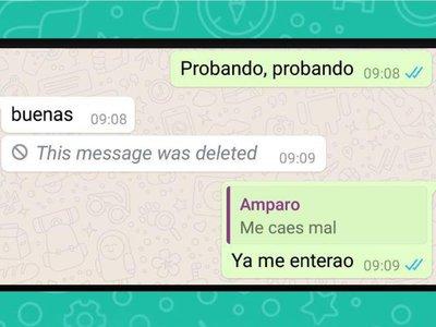 El truco para que no te borren mensajes de WhatsApp es contestarlos directamente