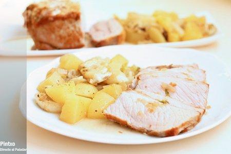 Receta de lomo de cerdo asado con hinojo