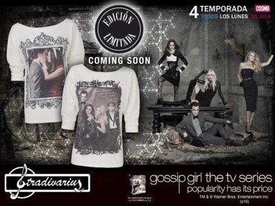 Consigue tu camiseta Gossip Girl en Stradivarius