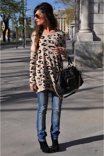 bershka leopardo jersey