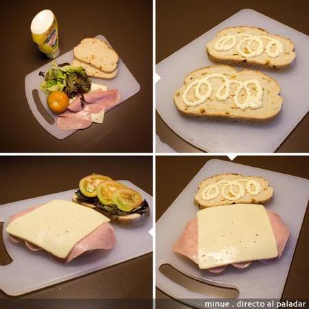 comida para llevar - sándwich club - preparación