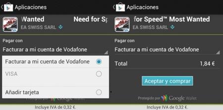 Pagar en factura en la Play Store de Android