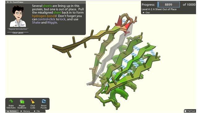 Captura de pantalla de FoldIt