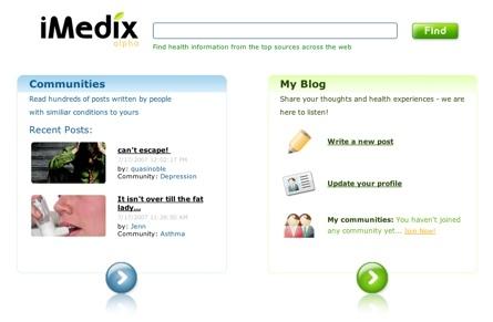 iMedix, red comunitaria de blogs personales sobre salud