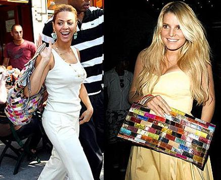 Jessica Simpson y Beyoncé, dos versiones de un mismo bolso