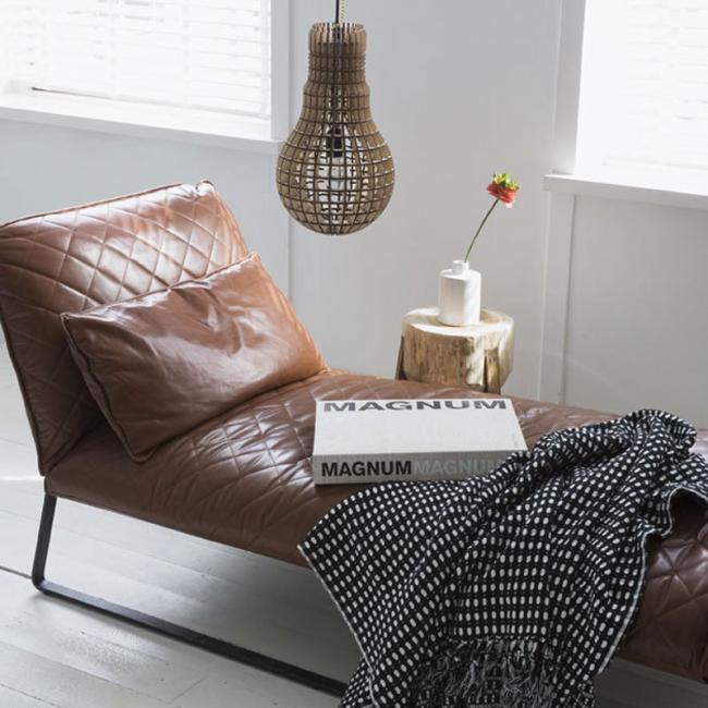 Un must have de invierno los sof s de piel con un look - Tipos de piel para sofas ...
