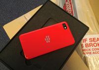 BlackBerry Z10 en color rojo sólo para desarrolladores.